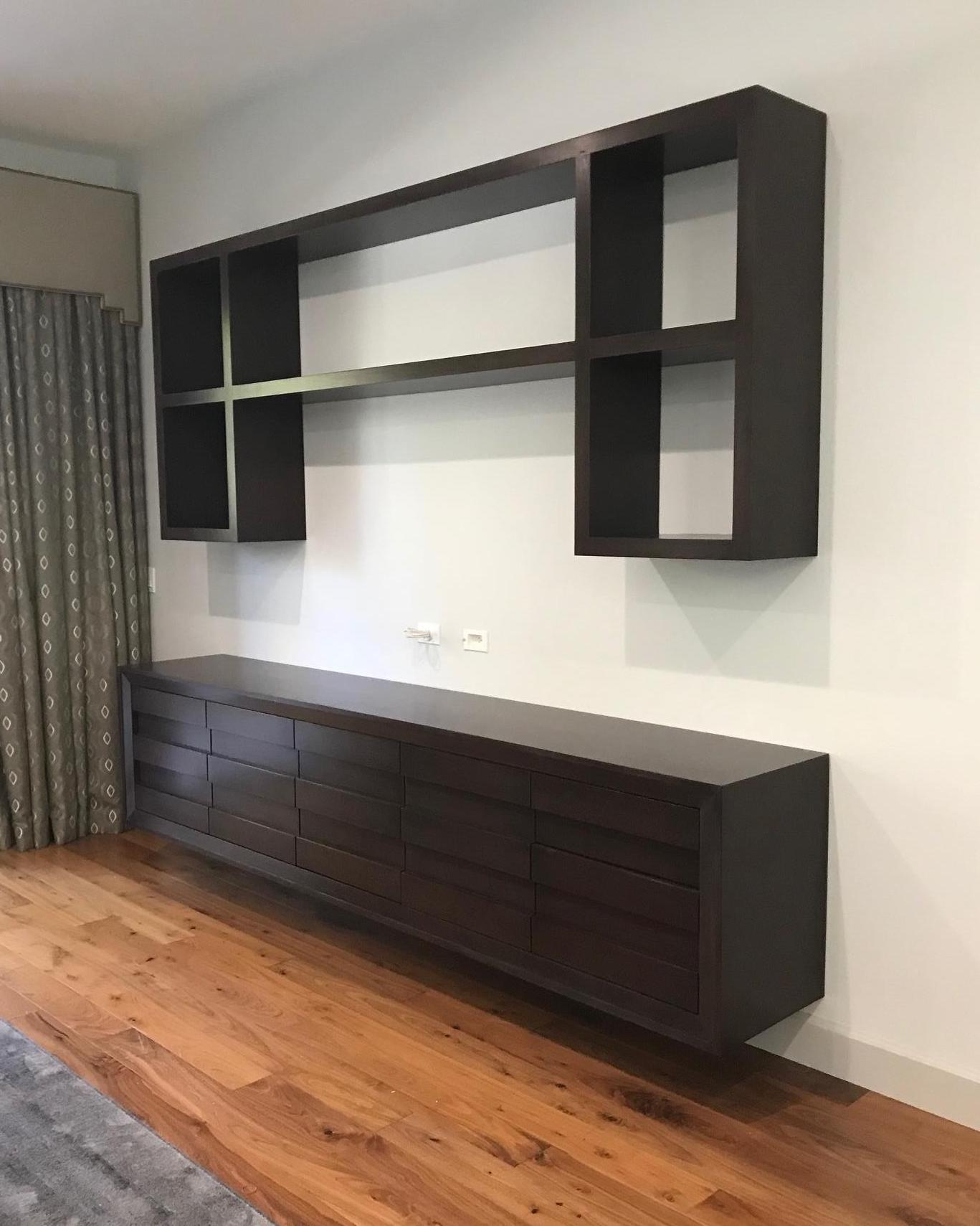 Floating Console With Upper Shelving