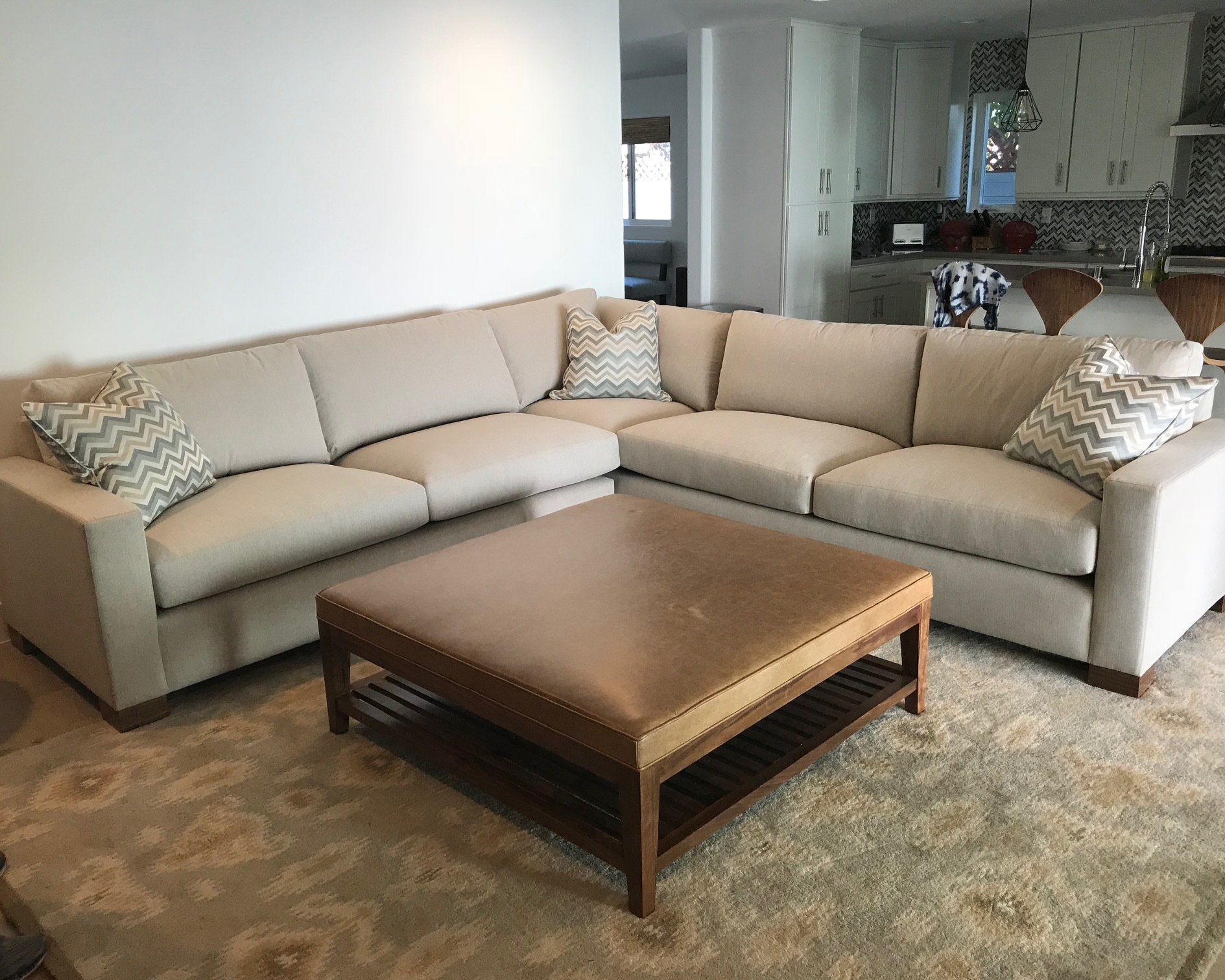 Modern Square Arm Sectional